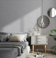Gray Wallpaper Solid Color Wall Paper Covered Self Adhesive Removable Vinyl Film