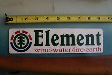 Element Skateboards Nature Tree Green Clear Z17 Vintage Skateboarding Sticker
