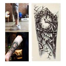 Gráfico de Reloj Gótico tatuaje temporal extraíble Pegatinas de arte corporal A prueba de agua