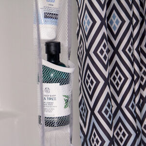 Bathroom Organizer Hanging Shower Caddy with Quick Dry Thick Mesh Pockets