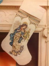 (X) Ethereal Elegance Angel Stocking Christmas Cross Stitch Chart