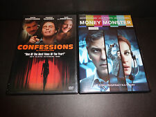 CONFESSIONS OF A DANGEROUS MIND & MONEY MONSTER-2 DVDs-GEORGE CLOONEY, J ROBERTS