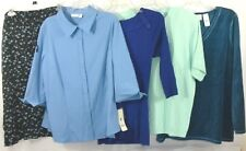Lot of 5 Women Size 1X ~ Apt 9 NWT ~ Alfred Dunner ~ Sag Harbor ~ JMS ~ Claiborn