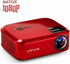 Crenova Projector Native 1080P LED Video Projector 6000Lux HDMI Home Theater