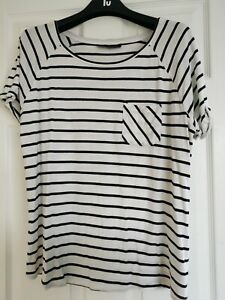 Topshop Tall Striped Tshirt Top Size 16