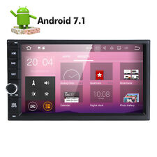 Android 7.1 Double 2Din Car Auto Radio No-DVD Player GPS Nav BT 4G WiFi OBD2 DAB