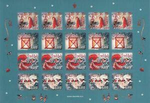 Christmas Pictures Lantern Birds Full Sheet Aland Island Finland Mint MNH 2012
