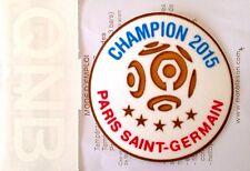 2015-16 PSG Home & Third Shirt LIGUE 1 CHAMPION/QNB Logo Soccer Badge Patch Set
