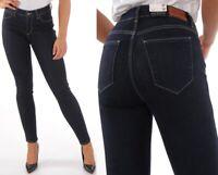 Wrangler Damen Jeanshose Body Bespoke Skinny Rinsewash Marineblau W26 - W34