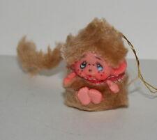 Vintage Small furry Tan Monchhichi Doll ? Korea 1970s New NOS