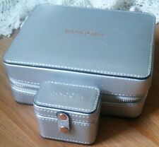 AUTHENTIC PANDORA JEWELRY SILVER ELEGANCE TRAVEL 2 PEICE JEWELRY/RING CASES NWT
