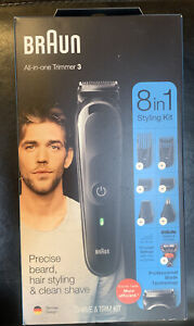 Braun All-in-One Trimmer 8 in 1 Styling Kit Professional Blade Technology Shave