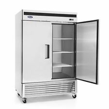 Double 2 Door Side By Side Stainless Steel Reach in Bottom mount Refrigerator