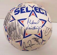 Fussball 21cm Ball | Autogramme Ebbe Sand Michael Laudrup | Bröndby Kopenhagen