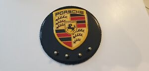 Porsche Emblem WallMount Key Rack Hanger Rail Holder Organizer 4 Hook Chain