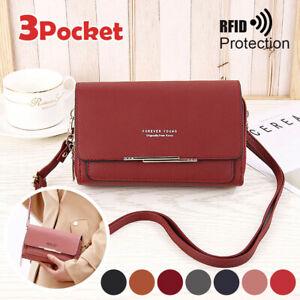 Women Mobile Phone Bag Leather Cross body Purse Wallet Shoulder Pouches Mini
