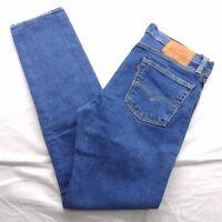 New Levi's Mens 510 0601 Slim Fit Skinny Leg Stretch Dark Denim Jeans Sz 32 x 32