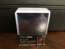 Ultra Pro 3X4 Toploaders 35pt WHITE BORDER 1 Pack of 25 for Standard Sized Cards