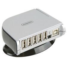7 puertos alta velocidad Multi Hub USB 2.0 con alimentación con Adaptador De Corriente Para Pc Y Laptop UK