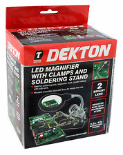 Dekton Magnifier Led Light Helping Hand With Soldering Stand
