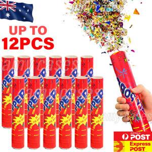 12x Twist Party Popper Confetti Cannons Streamer Party Celebration Wedding Shoot