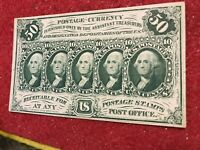 1st Issue Fractional Currency FR-1313  AU