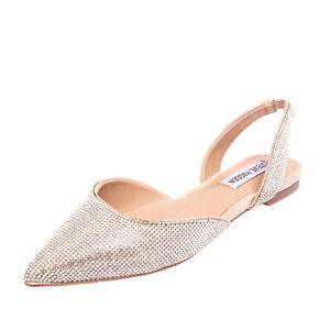 STEVE MADDEN D'Orsay Shoes Size 40 UK 7 US 9 Rhinestones Slip On Pointed Toe