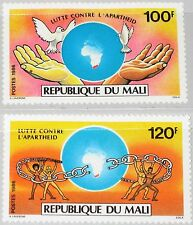 MALI 1986 1061-62 532-33 Fight against Kampf gegen Apartheid Doves World MNH
