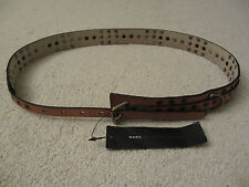 $158 NWT MARC BY MARC JACOBS Women's Italian Camel Leather Belt Size M L M491702