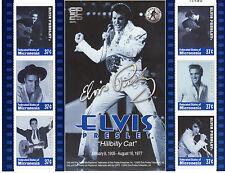 """ELVIS PRESLEY stamp sheet """"Hillbilly Cat""""."""