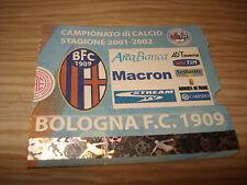 Billet Ticket Série à 2001/2002 Bologne Juventus 21/10/2001 Courbe Sud