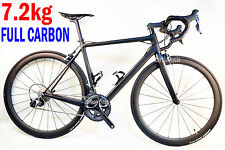 7.2KG Sapim CX-RAY SHIMANO 6800 FULL CARBON ROAD BIKE 54CM Braze-on WHEELS 11s