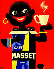 MASSET red vintage print  ART  coffee cup advertising A1 SIZE FOR FRAME