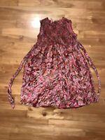 Cornelloki Girls Dress Sz 3/4 Pink Floral Velvet Holiday Dressy