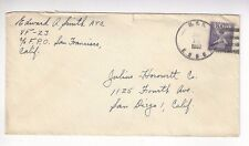 1952 USS Essex, VF-23 to San Diego, 3c NATO Stamp