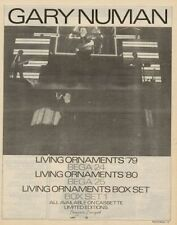 Gary Numan Box Set LP advert 1981