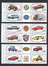 1984/1986 - REPUBBLICA - AUTO 3 SERIE COMPLETE IN BLOCCHI NUOVI - LOTTO/27250