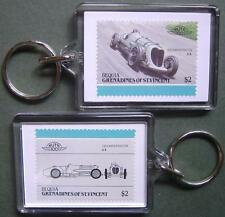 1933 Napier Railton Brooklands Car Stamp Keyring (Auto 100 Automobile)