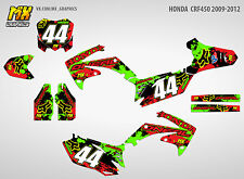 MX Graphics Stickers Kit Decals HONDA CRF450R 2009-2012 CRF 450 CRF450 R