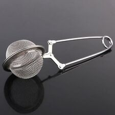 New Stainless Steel Tea Bag Squeezer Infuser Filter Strainer Steep Silver