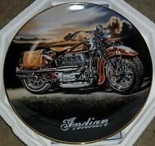 """Franklin Mint Collector Plate, Indian Motorcycles """"The 1939 Indian Four"""" Coa Nib"""