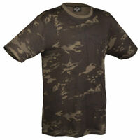Mil-Tec Mens US Army Style T-Shirt Crew Neck Dark Camo