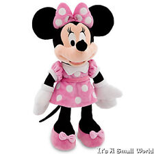 """Disney Store Minnie Mouse Plush Doll Pink Dress Small Size 12"""" NWT"""
