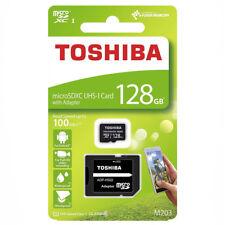 kQ Toshiba microSDXC Class 10 128 GB Exceria M203 Speicherkarte + Adapter