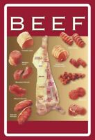 Beef Cuts Steaks Blechschild Schild gewölbt Metal Tin Sign 20 x 30 cm