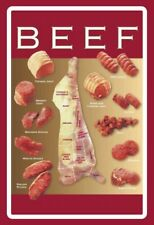 Beef cuts steak sign Arched metal sign metal tin sign 20 x 30cm