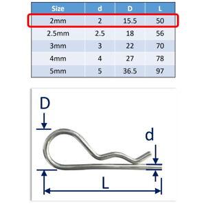 R-Clip (Beta Pins) in 316 Stainless Steel A4-Marine Grade: Freepost