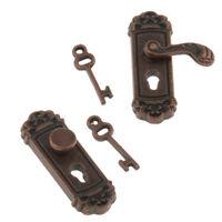 2Pcs Mini door lock for 1:12 miniature dollhouse accessory home decor DIY WU
