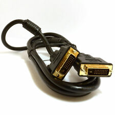 DVI-D Dual Link with Ferrite Cores Male to Male Cable Gold 1.8m ~2m  Lead