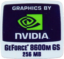 NVIDIA GeForce 8600m GS 256mb sticker autocollant logo 18x18mm (335)